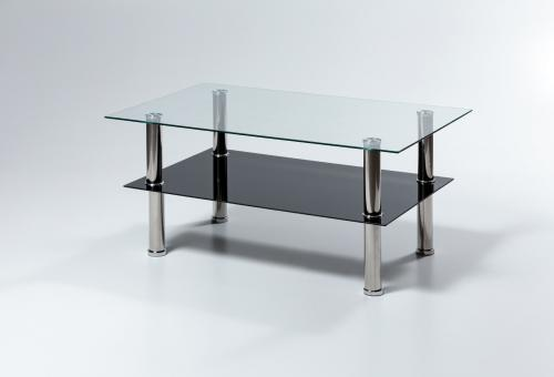 Négyzetes üveg dohányzó asztal