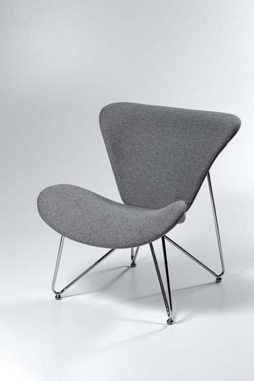 armchair with chrome frame