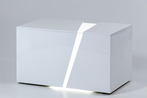 illuminated white bench_3