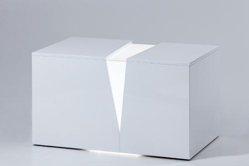 illuminated white bench_6