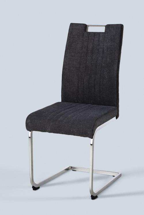 Szürke szék króm lábbal
