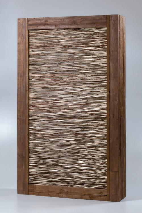 illuminated hazelnut cane partition