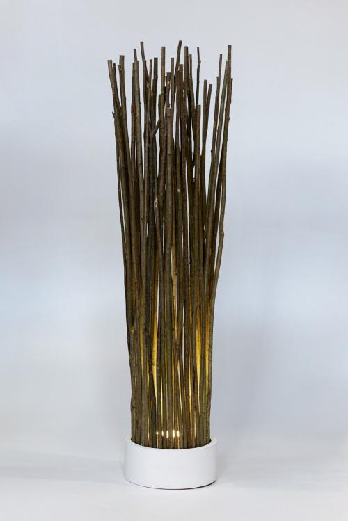 Mogyorófa vessző lámpa