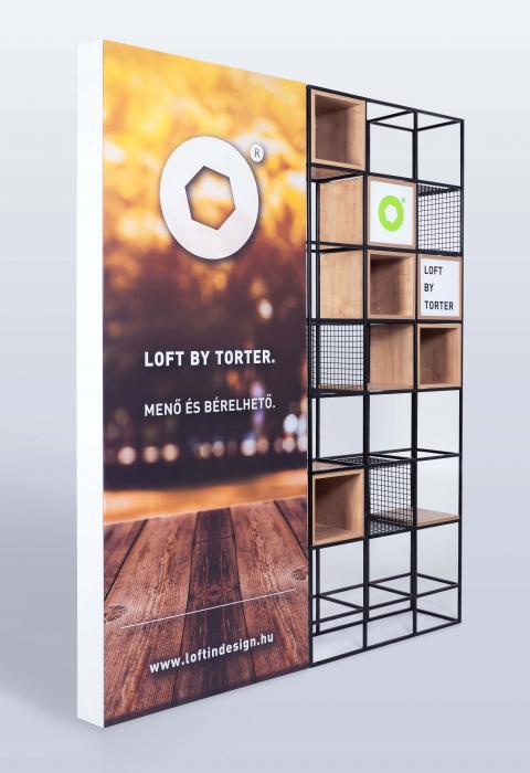 LOFTGITTER + Leuchtender Rahmen +  Logos nach Bedarf